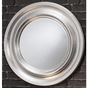 Gallery Direct Trevose Round Mirror - Silver 84cm X 84cm, Silver