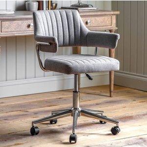 Gallery Direct Gallery Mcintyre Grey Swivel Chair, Grey