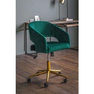 Gallery Direct Gallery Murray Green Velvet Swivel Chair, Green