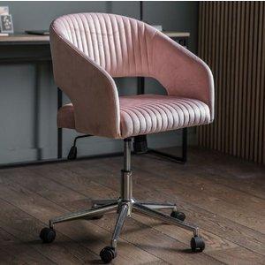 Gallery Direct Gallery Murray Pink Velvet Swivel Chair, Pink