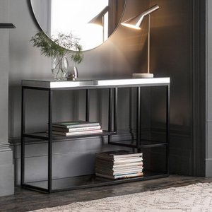Gallery Direct Gallery Pippard Black And Mirrored Console Table