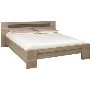 Gami Moka Charcoal Oak Bed, Charcoal Oak
