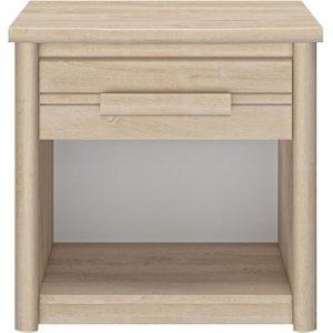 Gami Montana Blond Oak 1 Drawer Bedside Cabinet, Blond oak