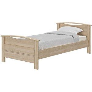 Gami Montana Blond Oak Bed, Blond Oak