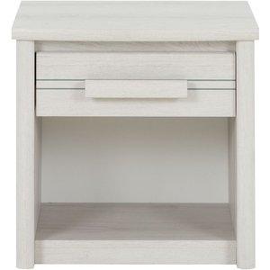 Gami Montana Whitewashed Oak Bedside Cabinet, Whitewashed Helvezia Oak