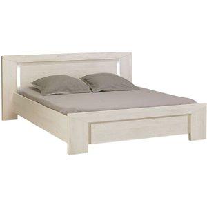 Gami Sarlat Cherry White Bed With Headboard Light, Cherry White