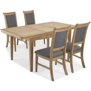 Hermitage Furniture Georgina Natural Oak Large Extending Dining Table And Chairs, Natural