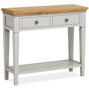 Global Home Chester Console Table - Oak And Soft Grey Painted