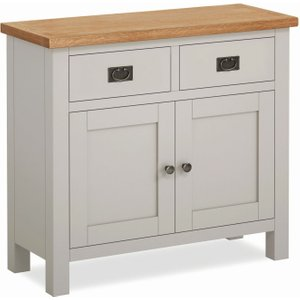 Global Home Devon Medium Sideboard - Oak And Soft Cotton Painted
