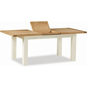 Global Home Oxford Medium Butterfly Extending Dining Table - Oak And Buttermilk Painted, Painted