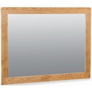 Global Home Salisbury Oak Rectangular Mirror - 120cm X 89cm, Oak