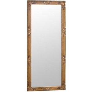 Scuttle Interiors Gold Frame Leaner Rectangular Mirror - 75cm X 165cm, Gold