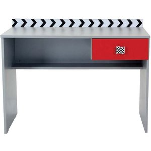 Ames Gps Racer Kids Red And Grey Study Desk, Red and Grey
