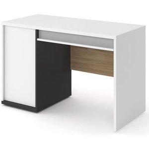 Arte Nova Grace White Computer Desk, White, Graphite, Salisbury and Light Grey