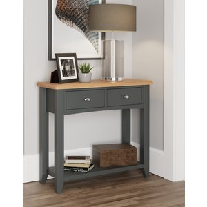 Essentials By Scuttle Interiors Graceton Oak And Grey Painted Console Table