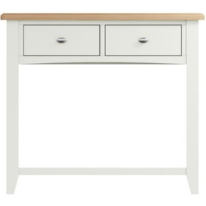 Essentials By Scuttle Interiors Graceton Oak And White Painted Console Table