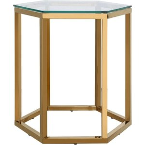 Deco Home Hamlin End Table - Glass And Gold, Gold