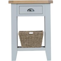 Scuttle Interiors Hampstead Oak And Grey Painted 1 Drawer Telephone Table, Lime Washed Oak and Grey Painted