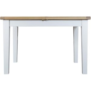 Scuttle Interiors Hampstead Oak And White Painted 120cm Butterfly Extending Dining Table