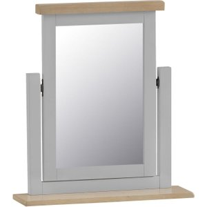 Scuttle Interiors Hampstead Trinket Mirror - Oak And Grey Painted, Millstone Grey Painted