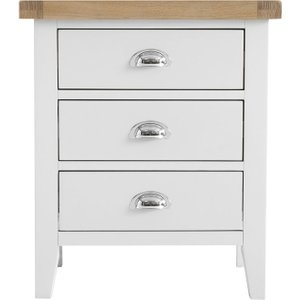 Scuttle Interiors Hampstead Wide Bedside Cabinet - Oak And White Painted, White Painted