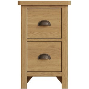 Essentials By Scuttle Interiors Hampton Rustic Oak 2 Drawer Bedside Cabinet, Rustic Oak