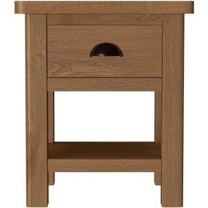 Scuttle Interiors Hampton Rustic Oak Lamp Table