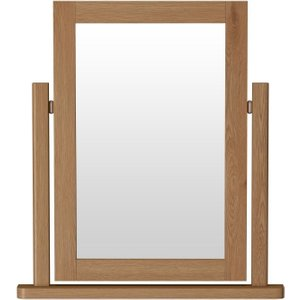 Scuttle Interiors Hampton Rustic Oak Trinket Mirror, Rustic Oak