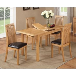 Annaghmore Hartford City Oak Butterfly Extending Dining Table