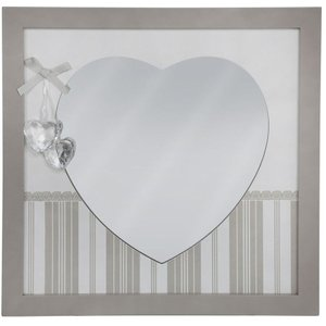 Deco Home Heart Shape Square Wall Mirror (set Of 4)