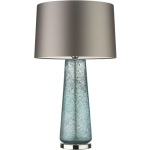 Heathfield And Co Heathfield Zoffany Caius Mineral Glass Table Lamp With Praline Satin Shade, Mineral and  Polished Nickel
