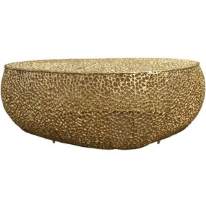 Deco Home Hessmer Gold Oval Coffee Table