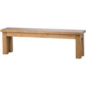 Hill Interiors Deanery Solid Rustic Pine Dining Bench, Natural