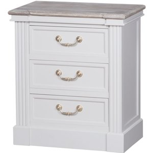 Hill Interiors Liberty White Painted Bedside Cabinet, White