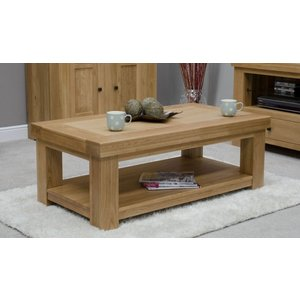 Homestyle Gb Furniture Homestyle Gb Bordeaux Oak Coffee Table, Lacquered
