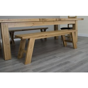 Homestyle Gb Furniture Homestyle Gb Deluxe Oak Standard Dining Bench, Oak