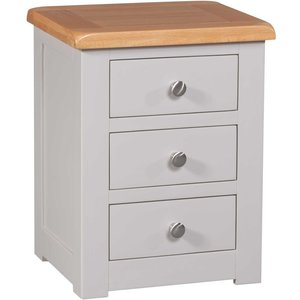 Homestyle Gb Furniture Homestyle Gb Diamond Painted Bedside Cabinet, Painted
