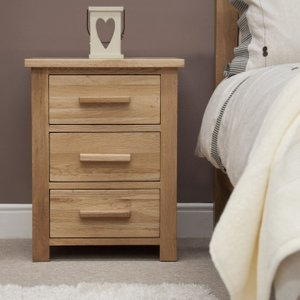 Homestyle GB Furniture Homestyle Gb Opus Oak Bedside Cabinet, Lacquered