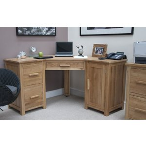 Homestyle GB Furniture Homestyle Gb Opus Oak Corner Desk