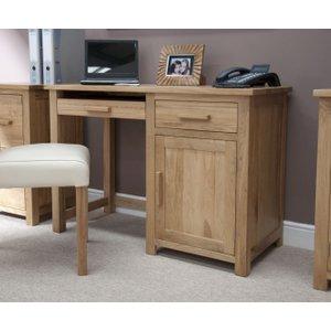 Homestyle GB Furniture Homestyle Gb Opus Oak Single Pedestal Computer Desk