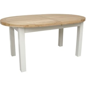 Homestyle GB Furniture Homestyle Gb Painted Deluxe Oval Extending Dining Table, Painted
