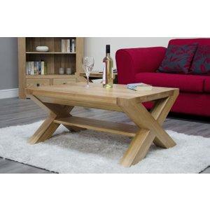Homestyle GB Furniture Homestyle Gb Trend Oak Medium Coffee Table With X Leg