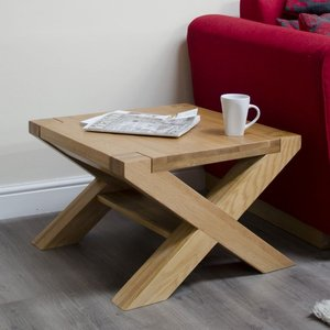 Homestyle Gb Furniture Homestyle Gb Trend Oak Small Coffee Table With X Leg
