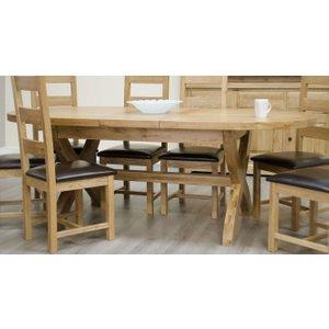 Homestyle Gb Furniture Homestyle Homestyle Gb Deluxe Oak Oval Extending Dining Table - 180cm-260cm