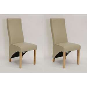 Homestyle Gb Furniture Homestyle Wave Bone Leather Dining Chair