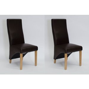 Homestyle Gb Furniture Homestyle Wave Coco Leather Dining Chair