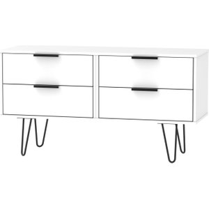 Welcome Furniture Hong Kong White Bed Box With Hairpin Legs, White