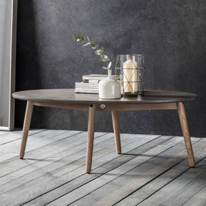 Gallery Direct Hudson Living Bergen Oval Coffee Table