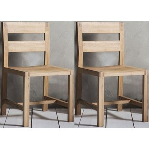 Gallery Direct Hudson Living Kielder Oak Dining Chair (pair), Clear Matt Lacquered
