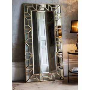 Gallery Direct Hudson Living Verbier Leaner Rectangular Mirror - Gold 80cm X 157.5cm, Gold